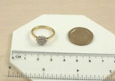 Pr11540y 9ct 375 Yellow Gold 9 Stone 0.50ct 50pts Diamond Claw Set Cluster Ring