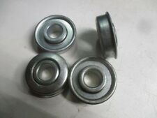 "Lot of 4 Flange Wheel Ball Bearings 1/2"" ID 1-3/8"" OD"