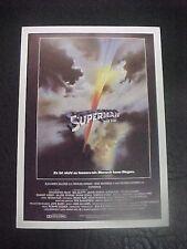 SUPERMAN, film card [Christopher Reeve, Gene Hackman, Margot Kidder]