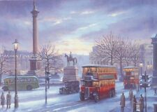 Londres bus taxi Trafalgar Square Nelsons colonne transport Noël Xmas carte