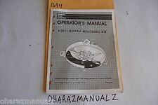 Honda H3011 / H3011 H Mulching Kit Operation's Manual