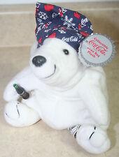 "z- Stuffed 6"" Bear Coca Cola Polar So Fun New With Tags And Looks So Nice"