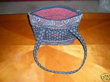 Vera Bradley Dark Blue Patterned Shoulder Bag Used HTF