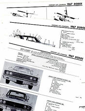 1967 DODGE CHARGER CORONET CORONET RT 67 MOTOR'S ORIGINAL CRASH ILLUSTRATIONS M2