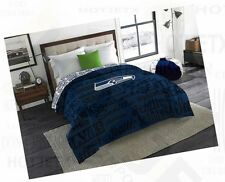 SEATTLE SEAHAWKS BEDDING COMFORTER TWIN FULL NFL FOOTBALL SUPERBOWL GPS HD TV