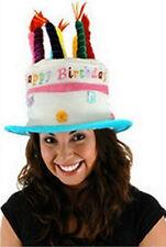 Birthday Hat! Adult Unisex Birthday Cake Hat w Candle Details