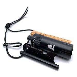 Bushcraft Fire Kit | Ferro Rod Fire Steel & Striker | Pocket Survival Kit Pack