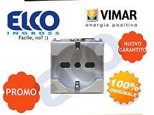14210.SL Presa Universale Schuko + Bipresa 2P+T 10/16A Silver Plana Vimar
