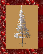New Budget Christmas Tree Pine With Stand White Green & Black Limited Stock