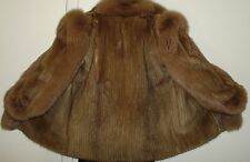 Sable color Mink & Fox Fur Jacket Size 8-10 Free Shipping EXCELLENT CONDITION