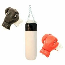 New 2 Pairs Boxing Punching Gloves with Body Punch Bag - Training Set