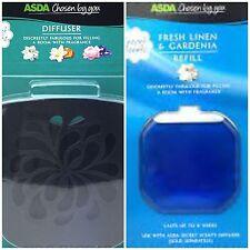 ASDA CHOSEN BY YOU DIFFUSER & REFILL FRESH LINEN & GARDENIA GLADE COMPATIBLE