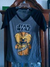 Star Wars mighty fine young ladies T-Shirt grey & black Size medium pre_owend.