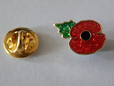 Poppy Lapel Badge (Small), Glitter finish - Leaf at 11am