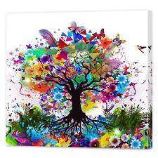 Colourful Contemporary Tree Art | Framed Ready To Hang Canvas Wall Prints