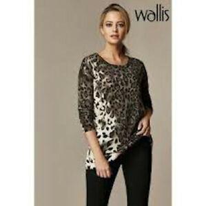 BNWT Wallis Petite Animal Hotfix Jumper Brown Cream Size 10 Eu 38 Us 6