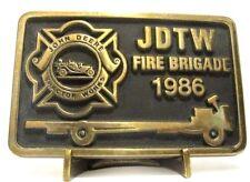 1986 John Deere Waterloo Tractor Works Employee Fire Brigade Belt Buckle 1 of 25