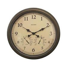 Chaney Instruments 01061 AcuRite 24-Inch Patina Indoor/Outdoor Wall Clock