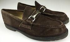Kenneth Cole Reaction Men's Suede Slip On Loafers Metal Buckle - Size 10 D Brown