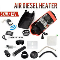 5KW Air Diesel Heter Parking Heater 12V Air Heating Vehicle Parts LCD Monitor UK