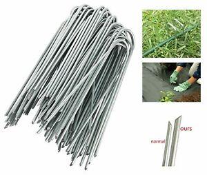 Galvanised Metal U Shaped Turf Pin Ground Staple's Garden Tent Securing Pegs