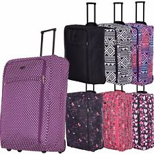 XL Extra Large Suitcase Lightweight Wheeled Travel Trolley Bag Case