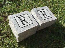 "Granite Cornerstones 4x4x4"" (Last Name Initial Set of 2)"