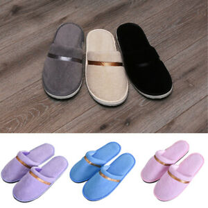 Coral Velvet Ribbon Disposable Slippers Flop Home Non-Slip Hotel Slipper Shoes