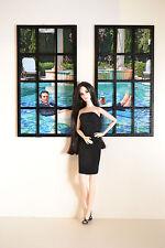 Windows for Dolls.1/6 1:6 dollhouse miniature furniture FR 2 pcs diorama BLACK