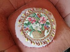 More details for victorian antique needlework  tapestry  cushion  pillow