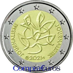 2 Euros Conmemorativos FINLANDIA 2021 *Periodismo y Comunicación* Sin Circular