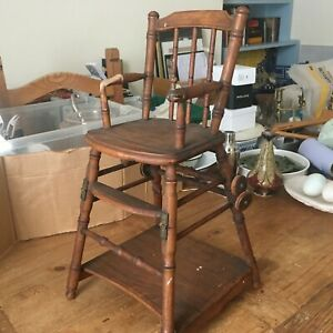Vintage (1960s/70s) Wooden Convertible Dolls High Chair READ 50cm Tall