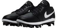 Nike Air Jordan 1 Retro MCS Low Black Baseball Cleats Mens Shoe Size-8