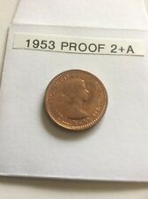 More details for 1953 elizabeth ii farthing (proof) (2+a) unc freeman 662a  rare