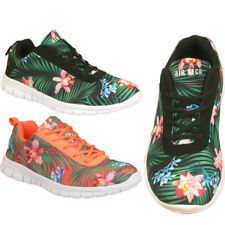 Unbranded Floral Lace Up Synthetic Upper Trainers for Women