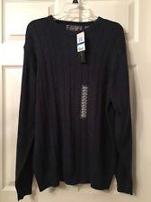 "Mens Oscar De Larenta Blue Sweater Size XL"" New With Tags"