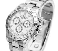 Rolex Mens Cosmograph Daytona SS 116520  White Dial 40mm-Mint Condition
