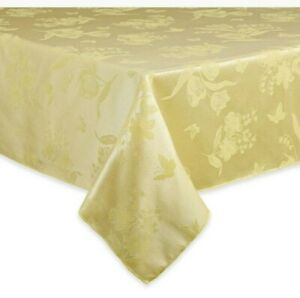 Spring Splendor Damask Fabric Tablecloth in Butter - Choice of Size