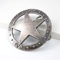 Vintage Silver Ranger Sheriff Star Mens Womens Western Belt Buckle FREE GIFT BOX