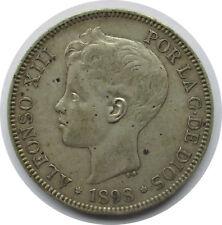 España plata 5 pesetas 1898, Alfonso XIII