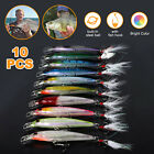 10pcs Lot Kinds of Fishing Lures Crankbaits Hooks Salmon Baits Tackle Crank Kit