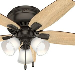 Hunter Fan 42 inch Casual Premier Bronze Indoor Ceiling Fan With LED Light Kit