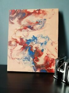 """The Battle"" 8x10 Acrylic Abstract dutch pour wall art painting"