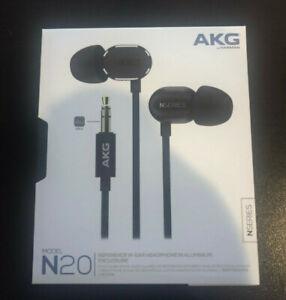 Harman AKG N20 Black In-Ear Headphones Tangle Free Aluminum Enclosure Beats