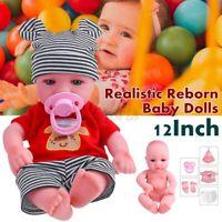 19'' Handmade Reborn Baby Doll Boy Soft Vinyl Real Life Newborn Dolls Washable