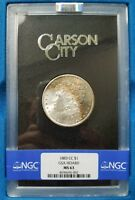 1883 CC Silver Morgan Dollar NGC MS 63 GSA Hoard Carson City Toned Toner Toning