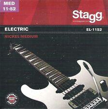 Vernickelter Stahl Saitensatz für E-Gitarre, 11-52* Medium, I1-