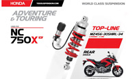 Honda NC750X 2014 2015  Rear Adjustable YSS Gas Shock MZ456-305HIRL-34