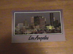 Unposted Postcard of Downtown Los Angeles Buildings and Lights at Night