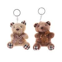 10cm Plush Doll Bear Fashion Phone Bag Key Chain Pendant Wedding Shed